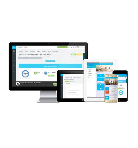 Foto - Você pode acessar o Superlógica Condomínios de forma segura pelo computador, tablet ou pelo celular no aplicativo Área do Condômino, onde houver internet, pois o sistema é hospedado na nuvem (cloud).