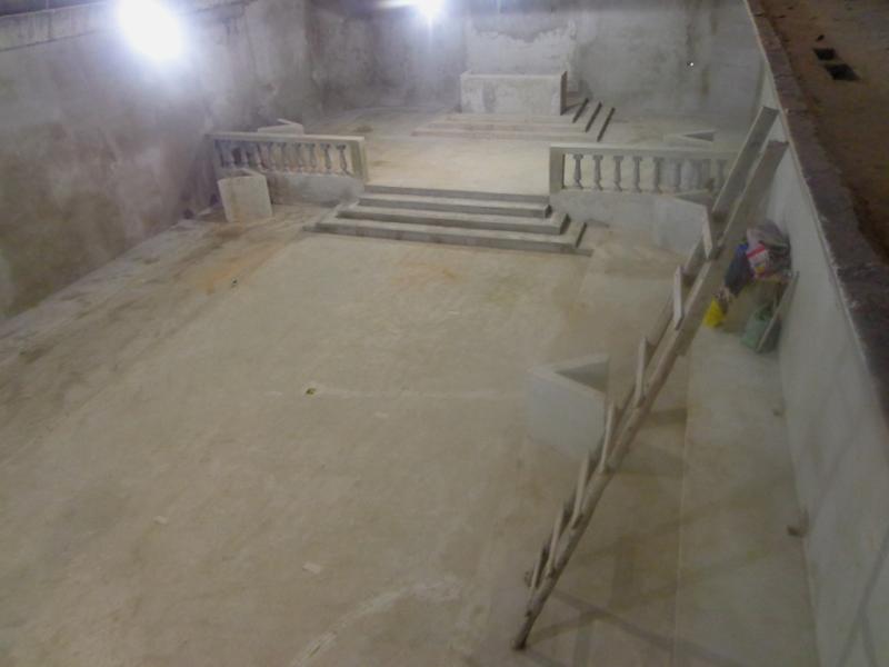 Foto - A.'.R.'.L.'.S.'. 9 de Abril - Cubatão - Vista superior do Templo ao término da obra.