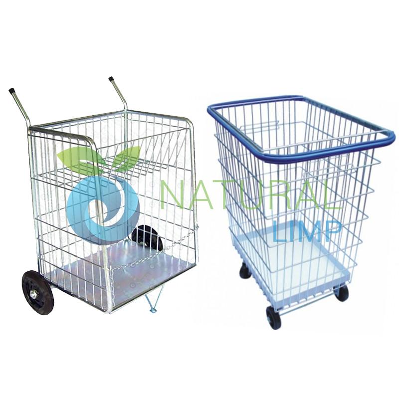 Foto - Carrinho elevador condominio Estacionamento carga compras mercado Natural Limp