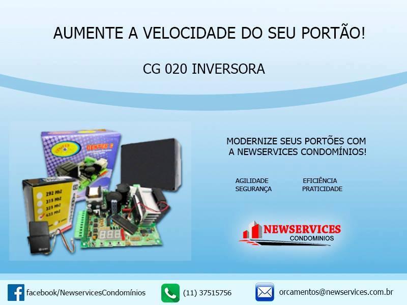 Foto - Central Inversora - Aumento da Velocidade do Portão de Veículos.
