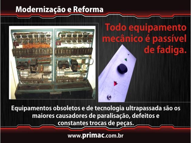Foto - TODO EQUIPAMENTO MECÂNICO É PASSIVEL DE FADIGA. Equipamentos obsoletos e de tecnologia ultrapassada são os maiores causadores de paralisação, defeitos constante troca de peças.