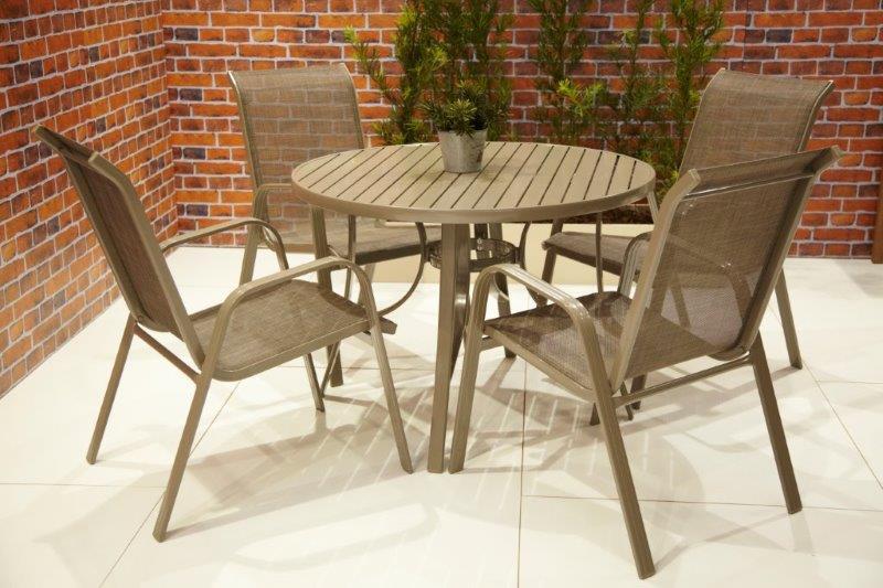 Foto - Conjunto Summer (mesa com tampo em alumínio sem furo central)